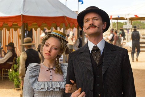 Louise (Amanda Seyfried) and Foy (Neil Patrick Harris) in A Million Ways to Die in the West.